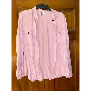 Pink Button Up (NWOT)